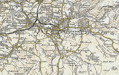 Old map of Glossop in 1903