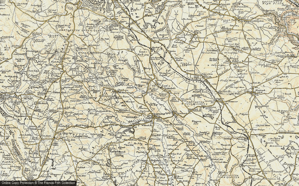 Old Map of Historic Map covering Aldery Cliff in 1902-1903