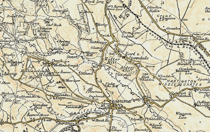 Old map of Aldery Cliff in 1902-1903