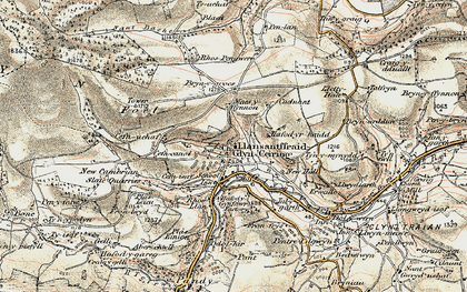 Old map of Glyn Ceiriog in 1902-1903