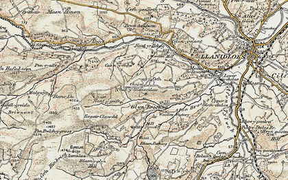 Old map of Afon Brochan in 1901-1903