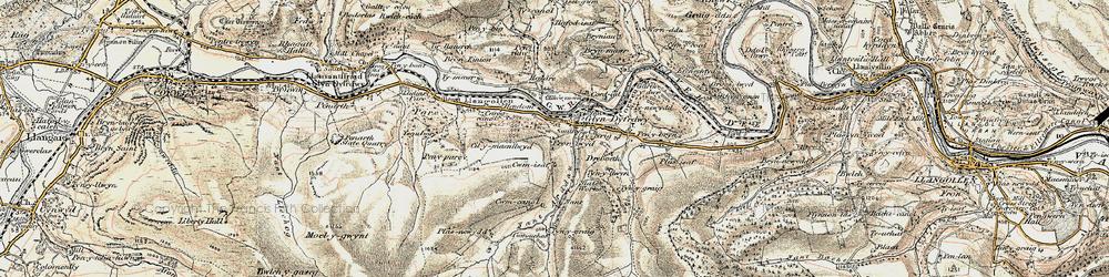 Old map of Glyndyfrdwy in 1902-1903