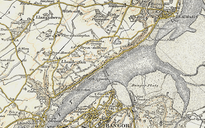 Old map of Glyngarth in 1903-1910