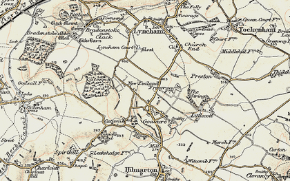 Old map of Goatacre in 1898-1899