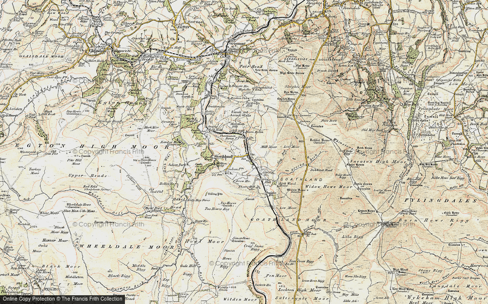 Old Map of Historic Map covering Abbot's Ho in 1903-1904