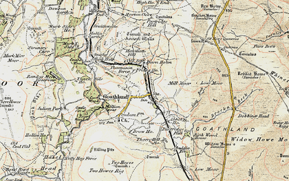 Old map of Abbot's Ho in 1903-1904