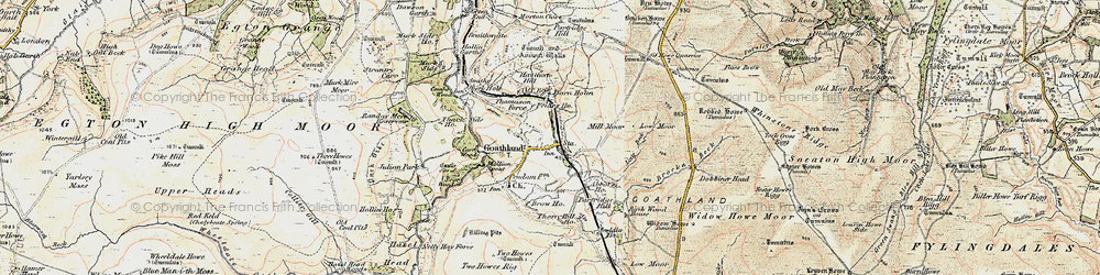 Old map of Widow Howe in 1903-1904