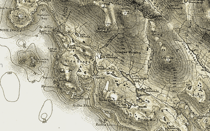 Old map of Bagh Ghòbhaig in 1911