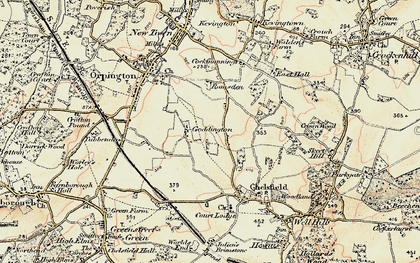 Old map of Woodlands in 1897-1902
