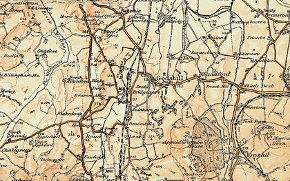 Old map of Godshill in 1899
