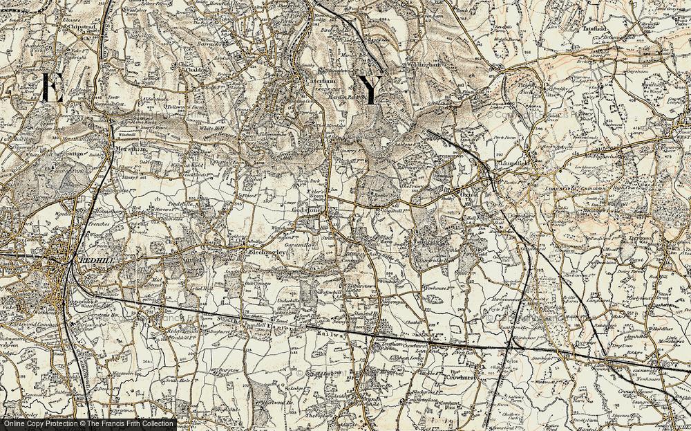 Old Map of Godstone, 1898-1902 in 1898-1902