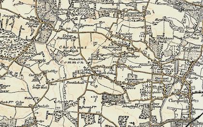 Old map of Goff's Oak in 1897-1898