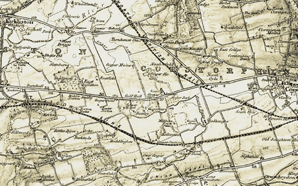 Old map of Ashley in 1903-1904