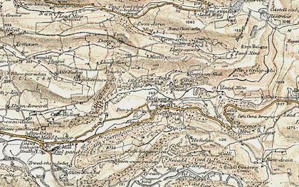 Old map of Goginan in 1901-1903