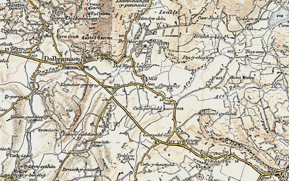 Old map of Afon Henwy in 1903
