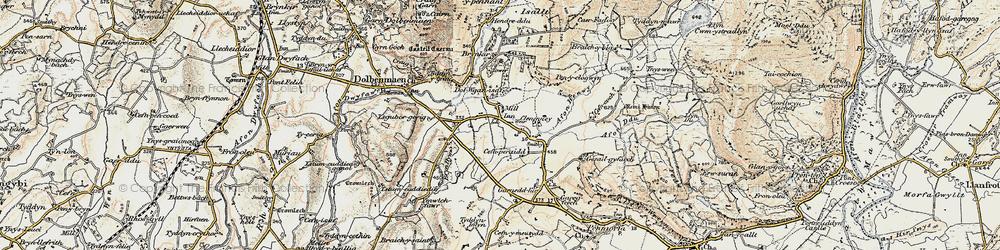 Old map of Ysgubor Gerrig in 1903