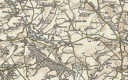 Old map of Golberdon in 1899-1900