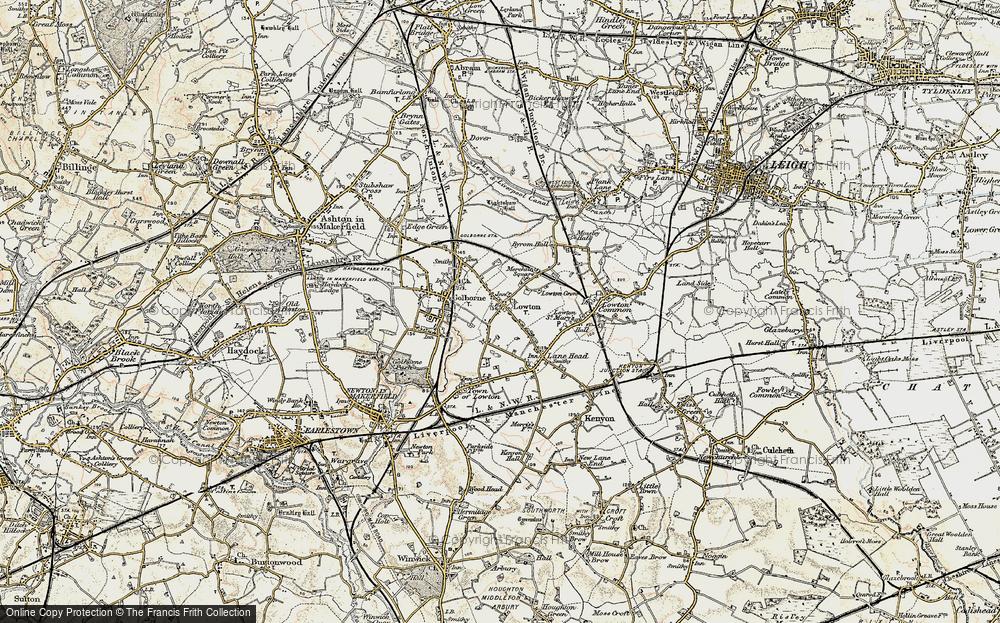 Old Map of Golborne, 1903 in 1903