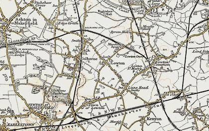 Old map of Golborne in 1903