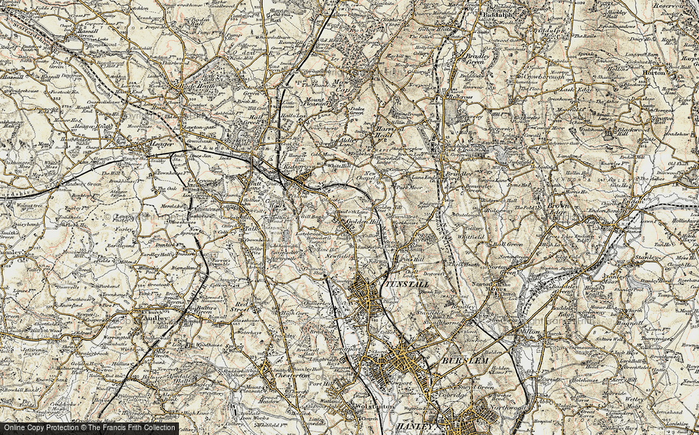 Old Map of Goldenhill, 1902 in 1902