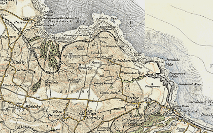 Old map of Lythe in 1903-1904
