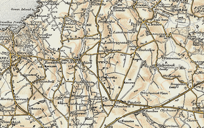Old map of Gollawater in 1900