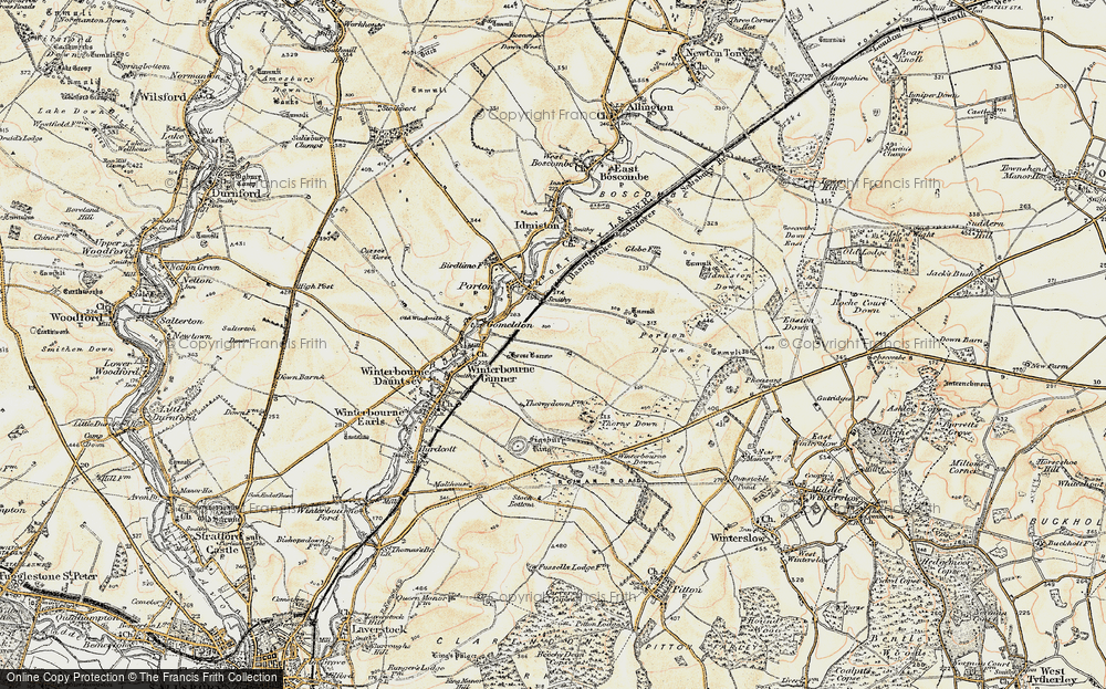 Old Map of Gomeldon, 1897-1899 in 1897-1899