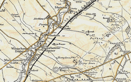 Old map of Gomeldon in 1897-1899