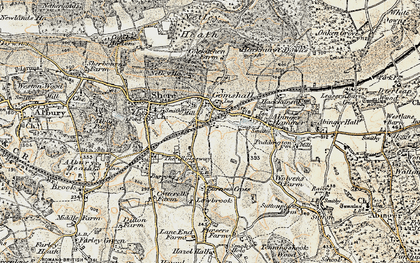 Old map of Gomshall in 1898-1909