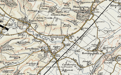 Old map of Wood Barn in 1902