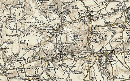 Old map of Gonamena in 1900
