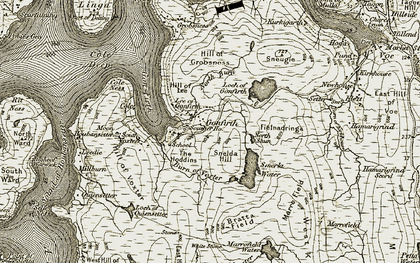 Old map of White Stone in 1911-1912
