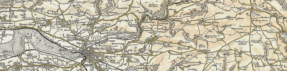 Old map of Goodleigh in 1900