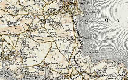 Old map of Goodrington in 1899