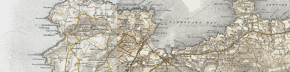 Old map of Goodwick in 1901-1912