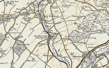 Old map of Augurs Hill Copse in 1897-1900