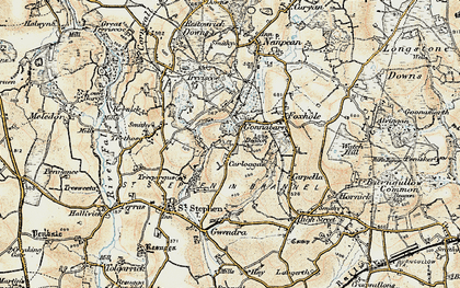 Old map of Goonabarn in 1900