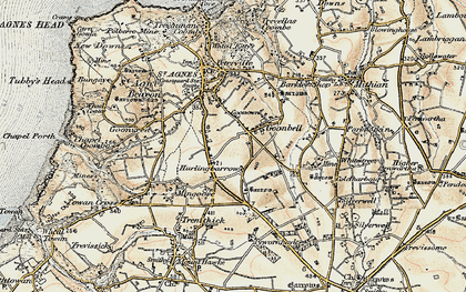 Old map of Goonbell in 1900