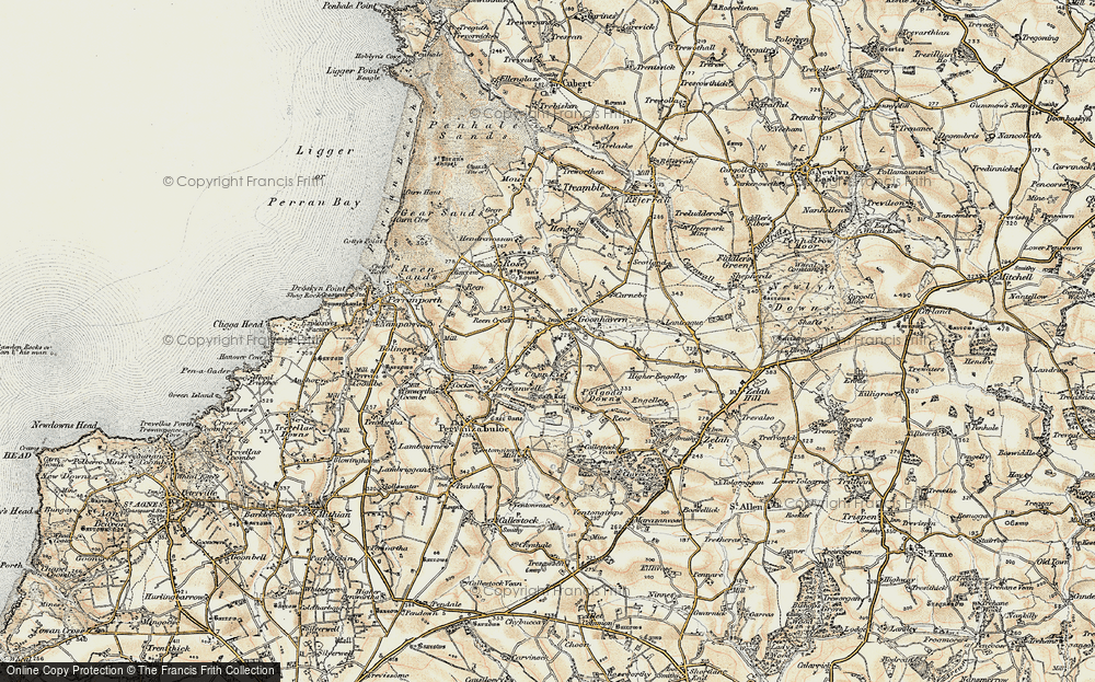 Old Map of Historic Map covering Lanteague in 1900