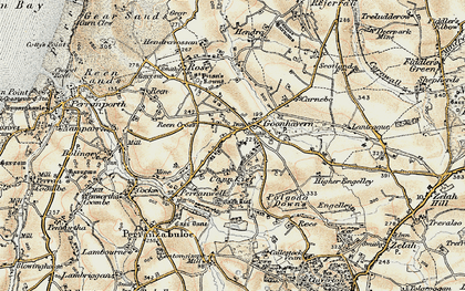 Old map of Goonhavern in 1900