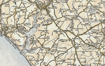 Old map of Goonhusband in 1900