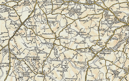 Old map of Goonlaze in 1900
