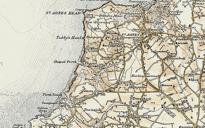 Old map of Goonvrea in 1900