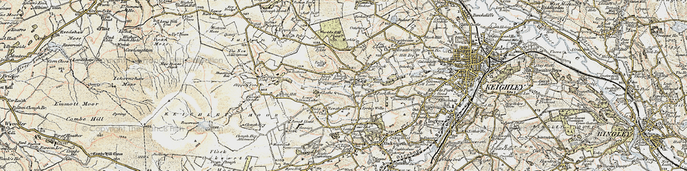 Old map of Todley Hill in 1903-1904