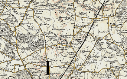 Old map of Goostrey in 1902-1903