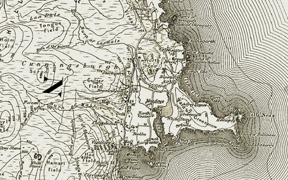 Old map of Aith in 1911-1912