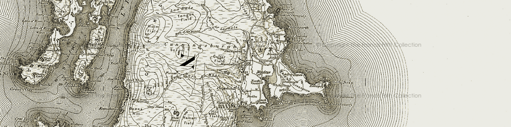 Old map of Aith Wick in 1911-1912