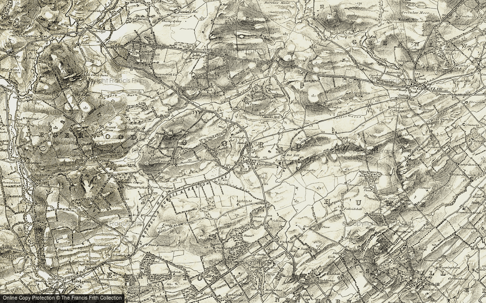 Old Map of Historic Map covering Lightfield in 1901-1904
