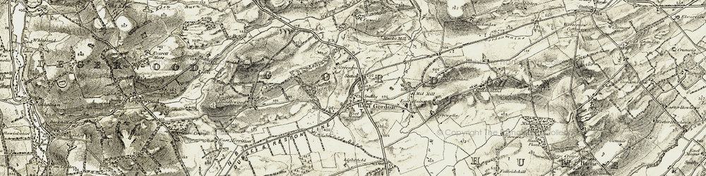 Old map of Lightfield in 1901-1904