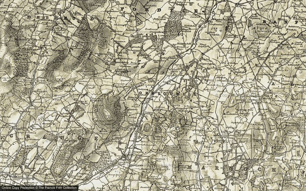 Old Map of Historic Map covering Limestones in 1910